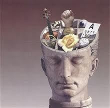 A metaphoric head image reflecting cognitive behavioral therapy