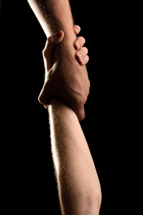 hands catching one another's reach by drug intervention