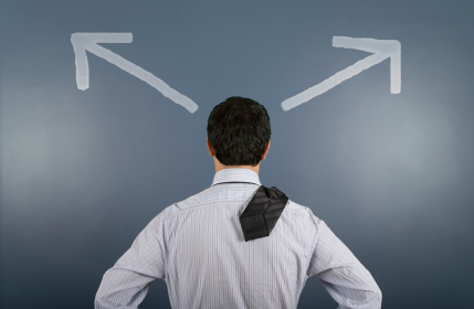 Man Making a Decision with Cognitive Behavioral Therapy