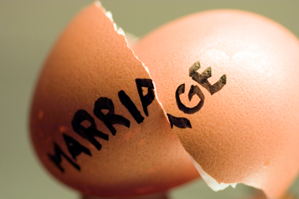 Codependency Counseling: A broken egg with the words marriage