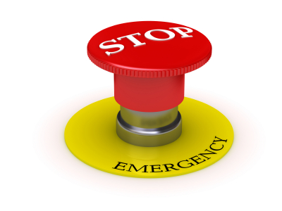 emergency stop red panic button