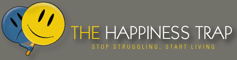 Book cover - The Happiness Trap Author Russ Harris